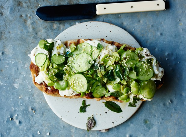 flatbread-with-fava-beans-cucumbers-and-burrata